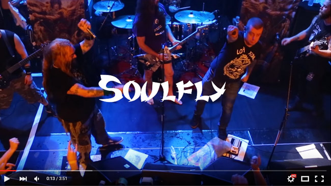 SOULFLY and KING PARROT : Ace of spades, motörhead tribute - Toulouse - european tour 2016