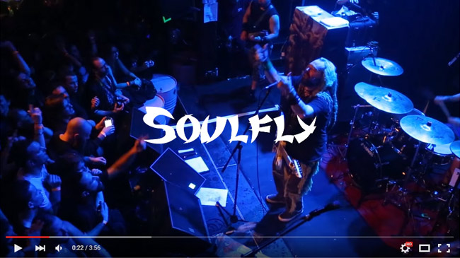 SOULFLY : Back To The Primitive, Toulouse - european tour 2016